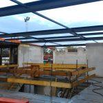 Dakvloer en constructie staaldak gereed